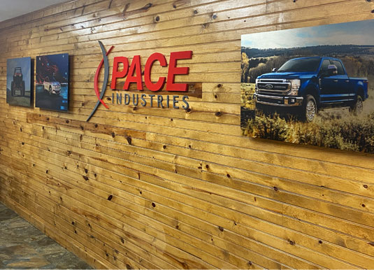 Pace Lobby with Wood Wall