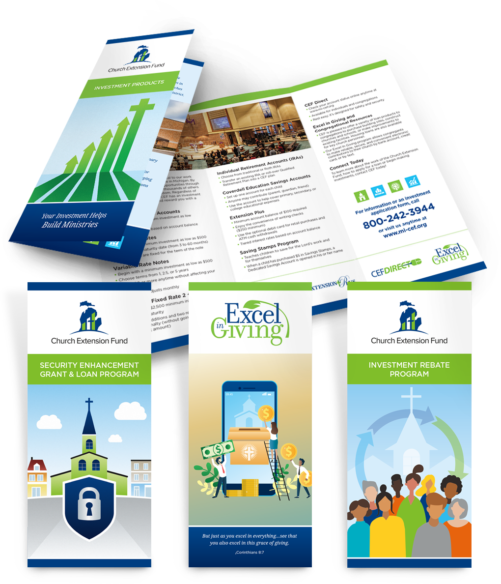 CEF trifold brochures