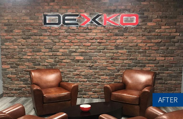 DexKo Brick Wall After