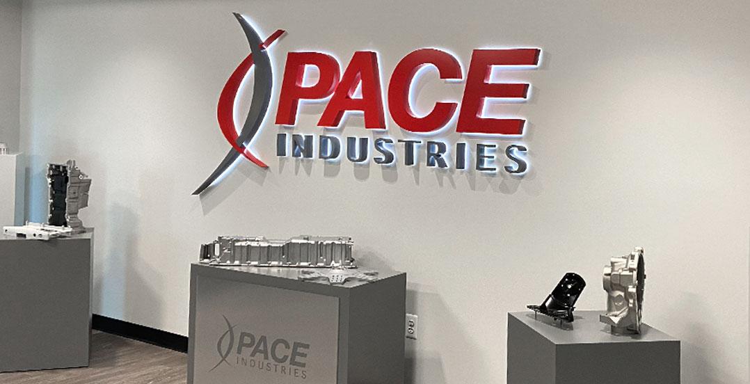 Pace Novi Logo Illuminated Sign
