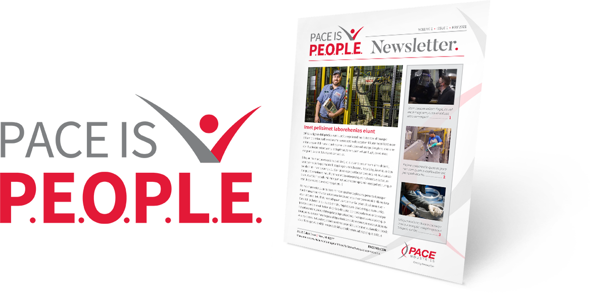 Pace is People Logo & Newsletter