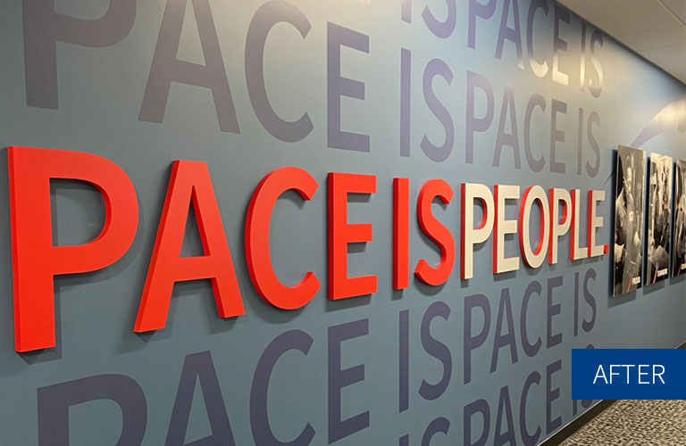 Pace is People Wall - After